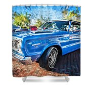1967 Plymouth Belvedere Gtx 440 Painted  Shower Curtain