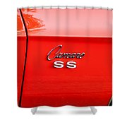 1969 Chevy Camaro Ss 396 Painted Shower Curtain