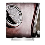 1969 Ford Mustang Mach 1 Side Emblem Shower Curtain