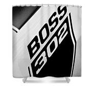 1970 Ford Mustang Boss 302 Emblem Shower Curtain