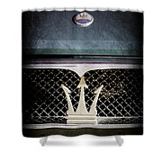 1972 Maserati Ghibli Grille - Hood Emblems Shower Curtain