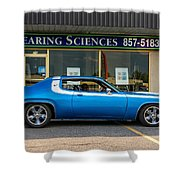 1974 Plymouth Roadrunner Shower Curtain