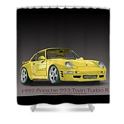 1997 Porsche  993 Twin Turbo Shower Curtain