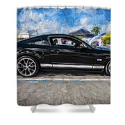 2007 Ford Mustang Shelby Gt Painted  Shower Curtain