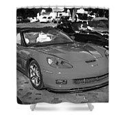 2010 Chevrolet Corvette Grand Sport Bw  Shower Curtain