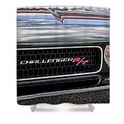 2011 Dodge Challenger Rt Black Shower Curtain