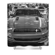2013 Ford Mustang Gt Cs Painted Bw Shower Curtain