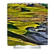 #9 At Chambers Bay Golf Course Shower Curtain by David Patterson