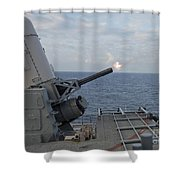 A Close-in Weapons System Is Fired Shower Curtain