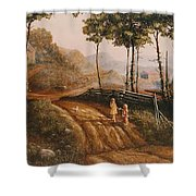 A Country Lane Shower Curtain