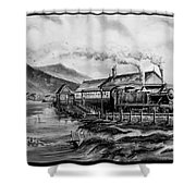 A Day At The Seaside Shower Curtain
