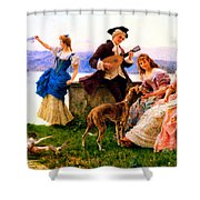 A Days Outing Shower Curtain