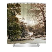 A Dusting Of Snow Shower Curtain
