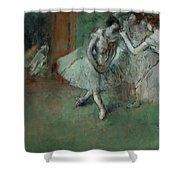 A Group Of Dancers Shower Curtain