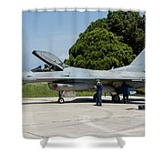 A Hellenic Air Force F-16c Block 52+ Shower Curtain