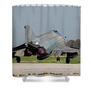A Hellenic Air Force F-4e Phantom Shower Curtain