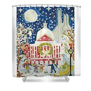 A Holiday Affair Shower Curtain