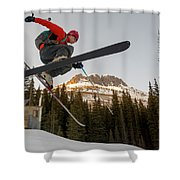 A Man Jumping On His Skis, San Juan Shower Curtain