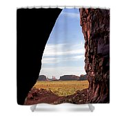 A Monument Valley View Shower Curtain