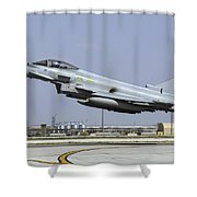 A Royal Air Forcetyphoon Fgr4 Taking Shower Curtain