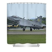 A Saab Jas 39 Gripen C Of The Royal Shower Curtain