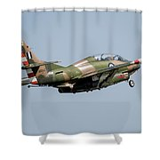 A T-2e Buckeye Trainer Aircraft Shower Curtain