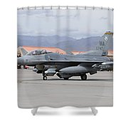 A U.s. Air Force F-16c Fighting Falcon Shower Curtain