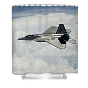 A U.s. Air Force F-22 Raptor Aircraft Shower Curtain