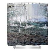A World War Fountain Shower Curtain