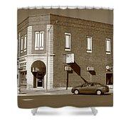 Abilene Kansas - 2nd And Broadway Shower Curtain