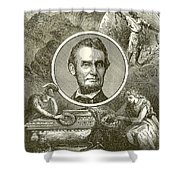 Abraham Lincoln Shower Curtain by English School