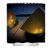 Abstract 3d Shapes  Shower Curtain