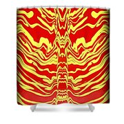 Abstract 48 Shower Curtain
