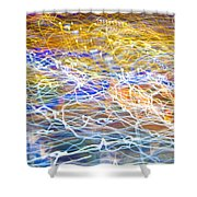 Abstract Background - Citylights At Night Shower Curtain