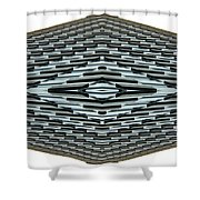 Abstract Buildings 2 Shower Curtain