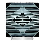 Abstract Buildings 6 Shower Curtain