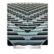 Abstract Buildings 7 Shower Curtain
