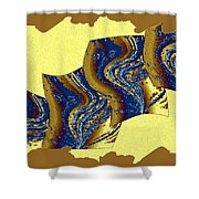 Abstract Fusion 177 Shower Curtain