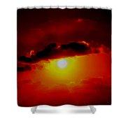 Abstract Sun Set Gran Cayman Shower Curtain
