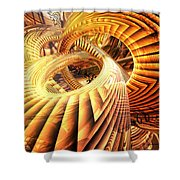 Abstract That Twisted Escher Fx  Shower Curtain