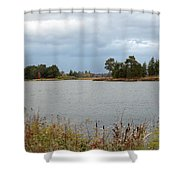 Across The Water Shower Curtain