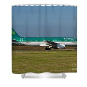 Aer Lingus Airbus A320 Shower Curtain