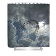 Aerial Display Shower Curtain