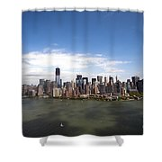 2-aerial View Of Manhattan Shower Curtain