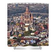 Aerial View Of San Miguel De Allende Shower Curtain