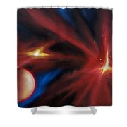 Agamnenon Nebula Shower Curtain