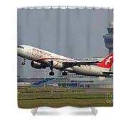 Air Arabia Maroc Airbus A320 Shower Curtain