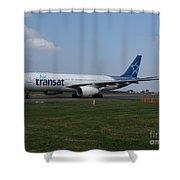 Air Transat Airbus A330 Shower Curtain