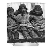 Alaska Eskimo Children Shower Curtain