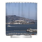 Alcatraz, C1998 Shower Curtain
